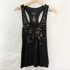 Miley Cyrus Sequined Bow Tank